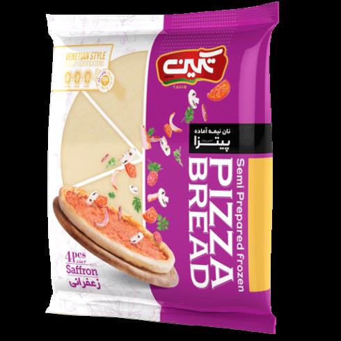 خمیر پیتزا زعفرانی تکین