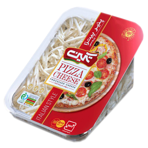 پنیر پیتزا رنده شده 500 گرمی تکین